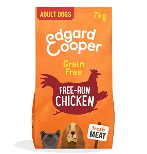 Edgard & Cooper Pienso para Perros Adultos Sin Cereales Comida Seca Natural 7kg Pollo Fresco de Granja, Alimentación Sana Sabrosa y equilibrada, Proteína ⭐