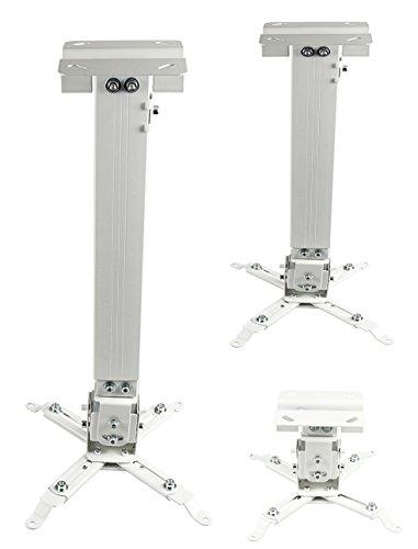 Luxburg Supporto Universale da soffitto e Parete per Videoproiettore, Kit 43-65 cm - Bianco