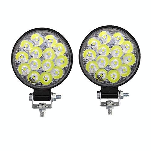 Drdcsad Searchlight 48W 27W LED Work Fog Light For Car LED Front Spotlight 12V Car LED Headlight For SUV Engineering Truck vehicle Searchlight (Color : 96W 2 pcs)