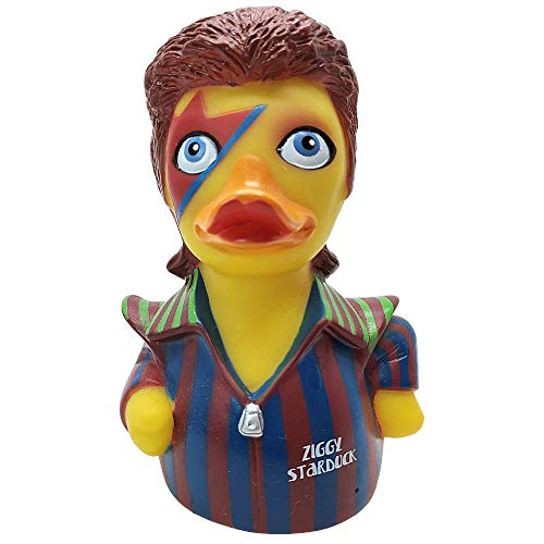 CelebriDucks Ziggy Duck - Premium Bath Toy - Rock Music Themed - Perfect Present for Collectors, Celebrity Fans, Music, and Movie Enthusiasts