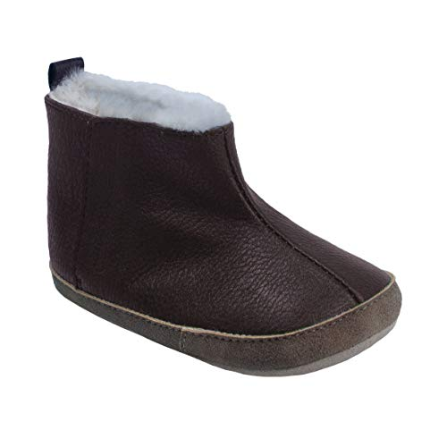 RO + ME by Robeez Ryan Cozie Bootie Brown 12-18mo