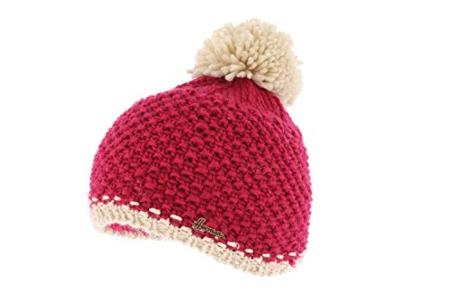 Herman - Bonnet Pompon Bicolore Rose - Mixte - Taille Unique - Rose
