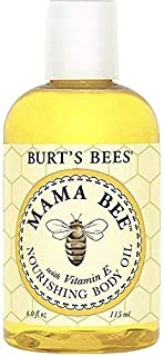 Burt's Bees Mama Bee Body Oil with Vitamin E, 4-Ounce Bottles (Pack of 2)