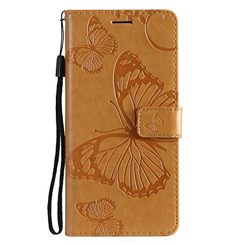 Hülle für [Xiaomi Mi 8 Lite] Hülle Handyhülle [Standfunktion] [Kartenfach] [Magnetverschluss] Schutzhülle lederhülle flip case für Xiaomi Mi8 Lite - DEKT042427 Gelb