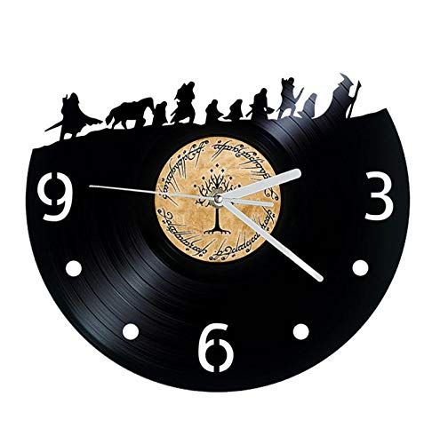 Vinyl Cd Record Wall Clock Lord Of The Rings Film Clock Home Decoration Wall Clock Lord Of The Rings Art Plug in the remote version of the night light