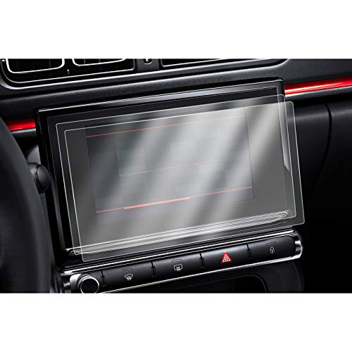[2 Stück] CDEFG für Citroen C3 C4 Auto Navigation Schutzfolie 4H Kratzfest Anti-Fingerprint 9,7 Zoll GPS Transparent Bildschirmschutzfolie