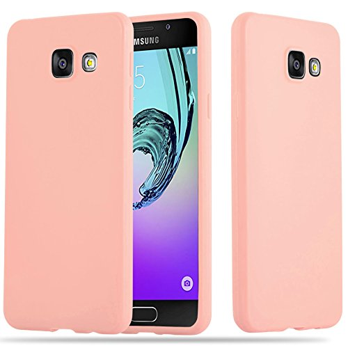 Cadorabo Hülle für Samsung Galaxy A5 2016 (6) - Hülle in Candy ROSA – Handyhülle aus TPU Silikon im Candy Design - Silikonhülle Schutzhülle Ultra Slim Soft Back Cover Case Bumper