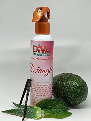 D.tangler Natural Ethnic Hair Detangler Spray for Women - Peppermint (8oz)