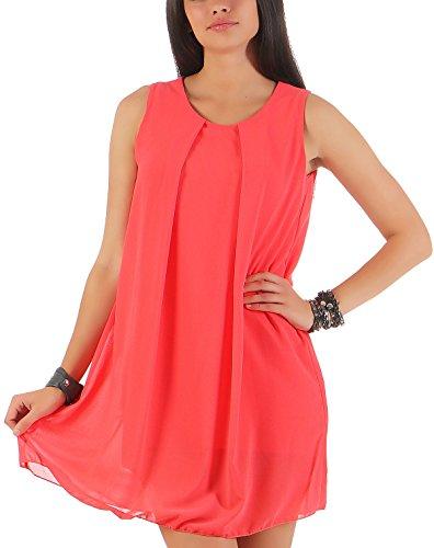 malito dames jurk mouwloos | elegante mini jurk | Etui-jurk met onderjurk | Etui-jurk met Cut-Out van de rug 6877
