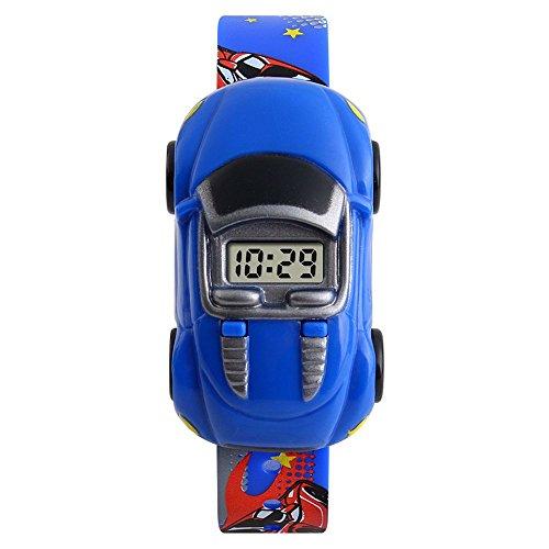 SKMEI Niños Electrónico Estudiantes Hombre Personalidad de Moda Coche Creativo Tendencia Reloj de Juguete (5 Estilos) (Azul Oscuro)