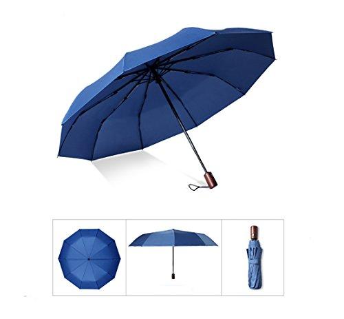 AXJX Sicherheits Defense Securityschirm kurz City Safe Unzerbrechlicher Regenschirm für den Selbstschutz