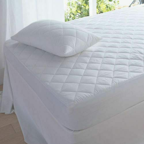 Gewatteerd matrasbed beschermer topper Fitted Cover Single Double King S King 4ft King