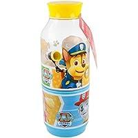 Patrulla Canina 2159; Botella Snack Dos Compartimentos; Capacidad Botella 300 ml; Producto de plástico; Libre BPA.