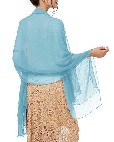 bridesmay Damen Strand Scarves Sonnenschutz Schal Sommer Tuch Stola für Kleider in 29 Farben Dark Blue