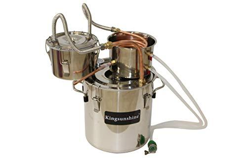 Kingsunshine Distillatore Acciaio Inox Temperatura Rame Serpentina Acqua Oil