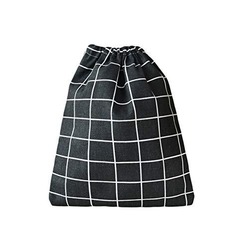 FOReverweihuajz High Grade Trekkoord Ondergoed Sieraden Opbergtas - Plaid Katoen Linnen Super Lichtgewicht Bruiloft Gift Favour Bag 2#