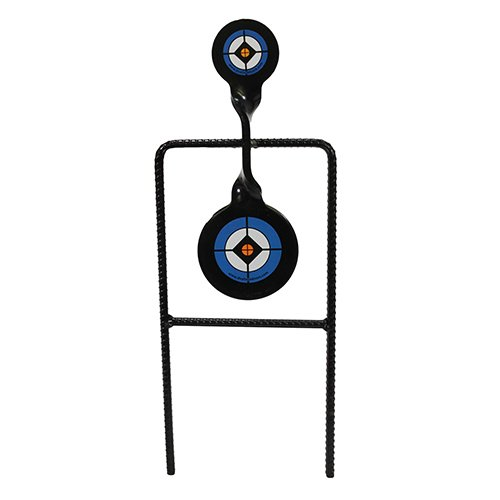 Do-All Outdoors Rebar Spinner Shooting Target for 9mm to .45 Caliber, Black, 30' x 12' x 3.5'