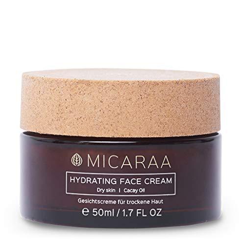 MICARAA Intensive Feuchtigkeits-Creme, Vegane Gesichtscreme Für Trockene & Sensible Haut, Anti-Aging Gesichtspflege Mit Aloe-Vera & Bio-Ölen, Naturkosmetik Deutschland