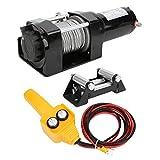 Jeanoko capacità di carico Verricello Elettrico Verricello Fuoristrada Kit ATV per motoscafo in Acciaio per Fuoristrada con Telecomando Portatile Wireless