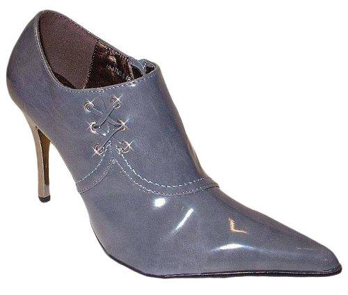 Elegante lak Ankle Boots Gina grijs - maat 36.