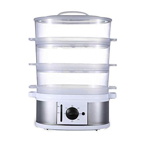 HIZLJJ Vaporeras Eléctricas, 3-Tier Saludable Vapor del alimento con la protección de tintorería Bandeja Anti- adecuados for cocinar Verduras Granos Carnes, etc.