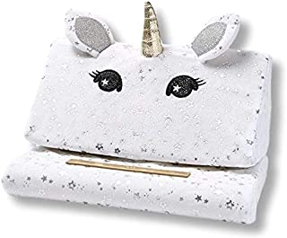 Justice Unicorn Lap Pad Tablet Pillow Lap Stand for iPads, Samsung Galaxy Tabs, Kindles, Smartphones, Books, Magazines