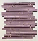 Mosaico sobre red de gres porcelánico de cerámica, fabricado en Italia – PYPER 682 LILAC