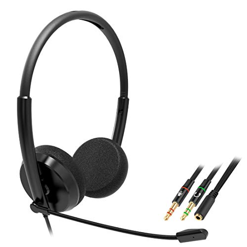 Great Price! Geekria Comfort-fit Call Center Headset with 3.5mm Male Plug and Microphone, Over-The-H...