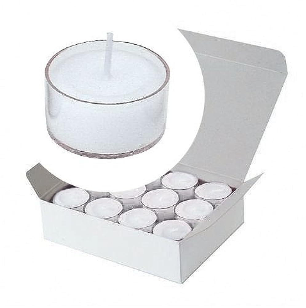 風景花輪アグネスグレイカメヤマキャンドル(kameyama candle) クリアカップティーライト24個入り 「 クリア 」