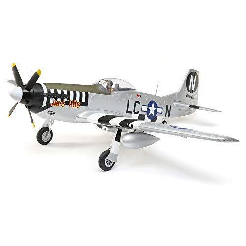 E-flite RC Airplane P-51D Mustang 1.2m BNF Basic (Transmitter, Battery and Charger not Included) with AS3X and Safe Select, EFL8950