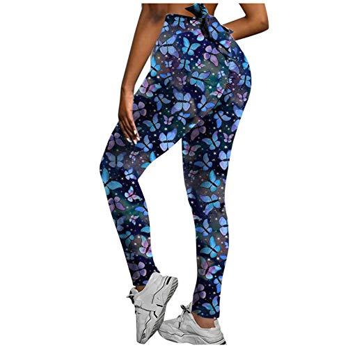 Leggings Mujer Yoga Pants Impresión Linda Fitness Cintura Alta Pantalones Deportivos Mallas para Running Training Estiramiento Yoga y Pilates