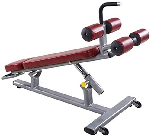 LDM Verstellbare Bänke Hantelhocker Bauchbrett Sit-Ups Fitnessgeräte Home Fitness Sit-Up Boards Multifunktionale Sit-Ups (Farbe: Rot, Größe: 125 * 72 * 96 cm)