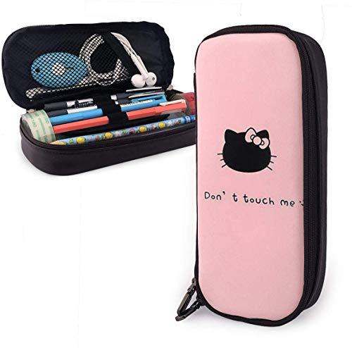 Federmäppchen Berühren Sie mich nicht Hello Kitty Große Kapazität Bleistiftbeutel Make-up Federbeutel Briefpapier mit Doppelreißverschluss Stifthalter für Schule/Büro