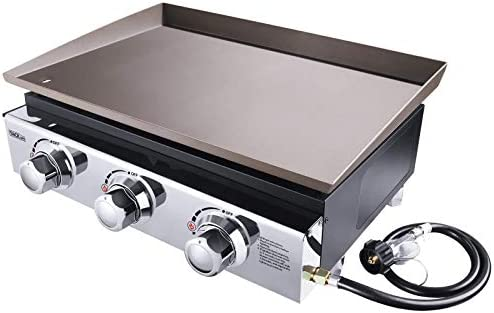 TACKLIFE 23 inch Propane Gas Griddle 3 Burners 25500 BTU 355 sq inches Stainless Steel for Outdoor product image
