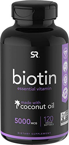 Biotin (5,000mcg) with Coconut Oil | Supports...