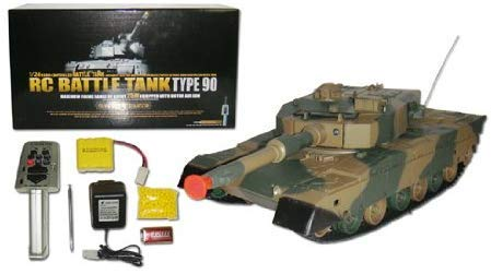 AMPERSAND SHOPS Remote Control Military Battle Tank 1:24 Defense Force Type 90 RC Airsoft Battle Tank