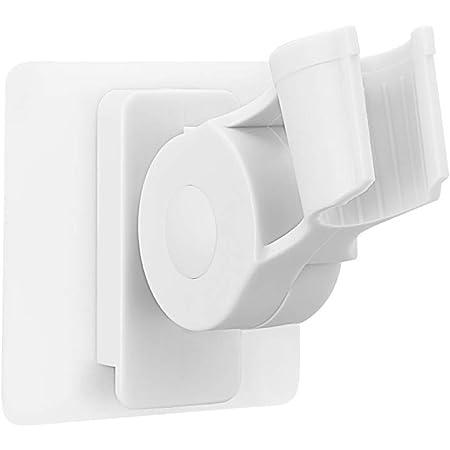 AooYo シャワーラック シャワーヘッド掛けスタンド 強力粘着 シャワーホルダー バスルームシャワーフック 7段の角度調節可能 シャワーフック 浴室用ラック バス収納 穴あけ不要 ホワイト