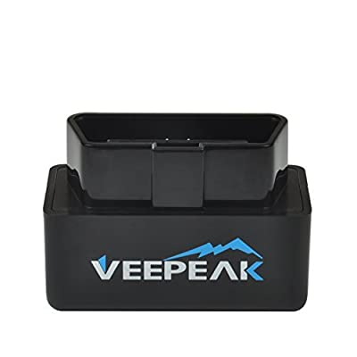 Veepeak Mini WiFi OBD2 Scanner for iOS and Android, Car OBD II Check Engine Light Diagnostic Code Reader Scan Tool Supports Torque Pro, OBD Fusion, Car Scanner App from Veepeak