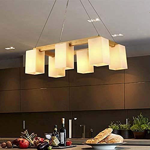 YZYZYZ Araña De Restaurante Japonesa Creativa Lámpara De Salón De Madera Nórdica Lámpara De Techo Decorativa De Madera Maciza China De 6 Lámparas L58cm * H30cm