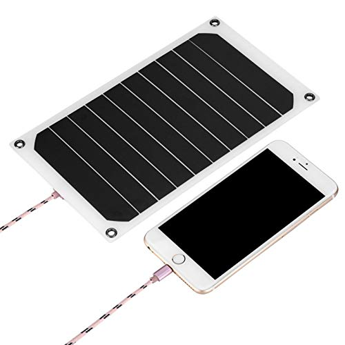 Surebuy Panel Solar Impermeable IP64 Cargador de energía móvil Panel Solar, con Mini Ventosa, para cámaras, para Consolas de Juegos