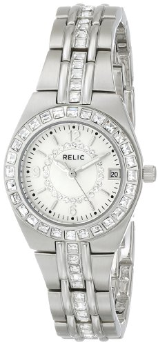 Relic by Fossil Women's Queen's Court Analog-Quartz Watch with Stainless-Steel Strap, Silver, 12 (Model: ZR11788)