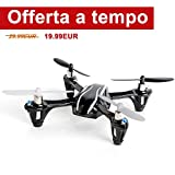 Mini Drone, FPVRC Hubsan X4 H107L V2 RC Quadricottero 2.4GHz 4CH 6 Axis Gyro...