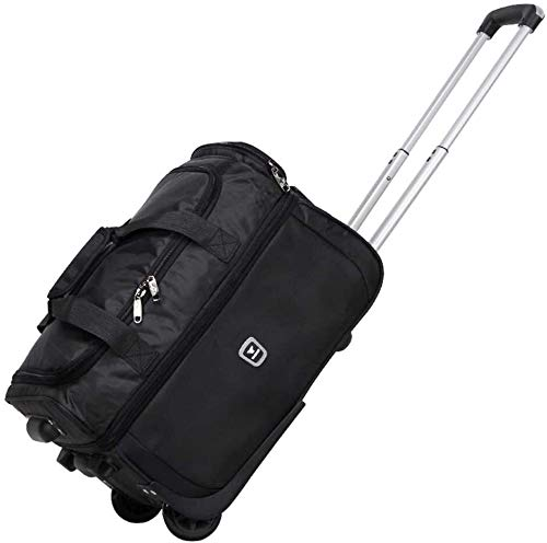 GQY Trolley - pulley suitcase for travel approved cabin bag (Color : Noir, Size : 21 inches)