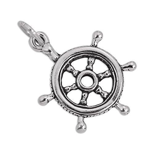 Sterling Silber Schiffe Ruder Charm Ohrhänger