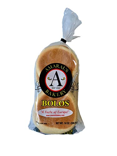 Amaral's Bakery Bolos Levedos - Portuguese English Muffins 14oz Sweet Muffins Bread