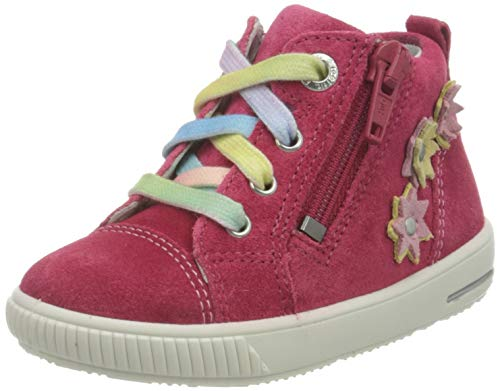 Superfit Jungen Mädchen Moppy Sneaker, ROT/ROSA, 19 EU