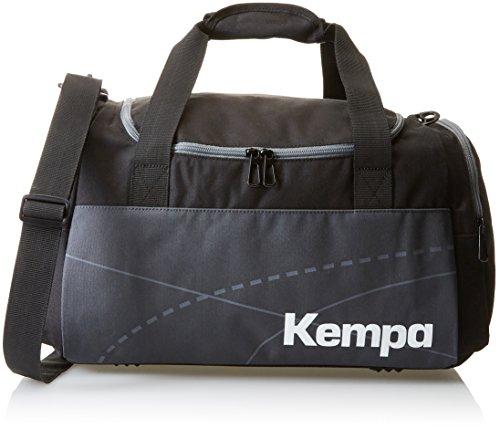 Kempa Teamline Sporttasche Tasche, Schwarz/Anthra, 46 x 25 x 27 cm, 30 Liter