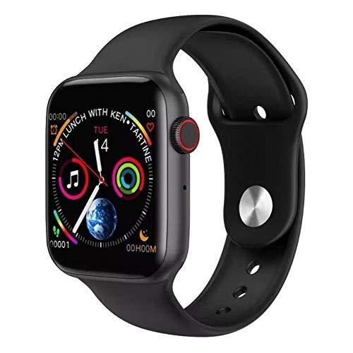 Relógio SmartWatch IWO W89 Preto + pulseira rosa