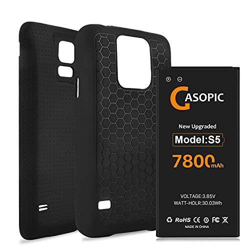 Galaxy S5 Battery, 7800mAh [Upgraded] Galaxy S5 Li-Polymer Replacement...