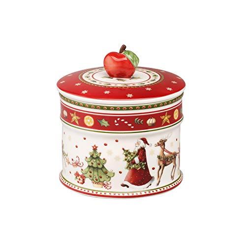 Villeroy & Boch Winter Bakery Delight Scatola Pasticceria, Porcellana, Bianco/Rosso, Piccolo